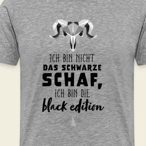 Schwarzes Schaf - white edition - Männer Premium T-Shirt