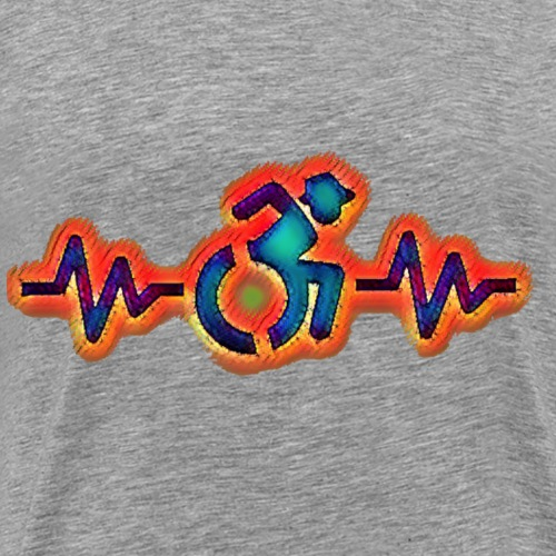 Wheelchair heart beat 005 - Mannen Premium T-shirt