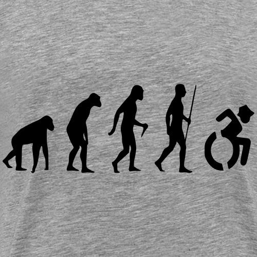 EvolutionWheelchair2 - Mannen Premium T-shirt