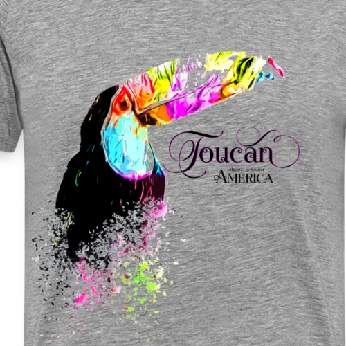 Toucan Tukane bunter Vogel geometrisch - Männer Premium T-Shirt
