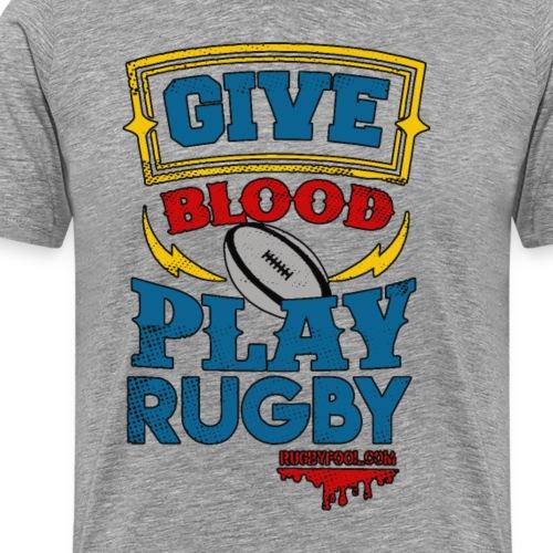 Give Blood Colour Version 1 - Men's Premium T-Shirt
