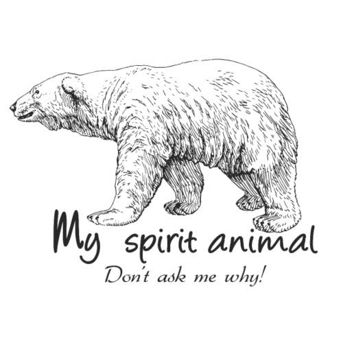 L'ours polaire est mon animal totem - T-shirt Premium Homme