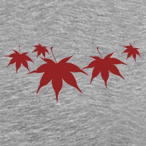 foglierosse png - Maglietta Premium da uomo