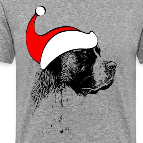 Weihnachten Bernhardiner Hunde Geschenkidee Design - Männer Premium T-Shirt
