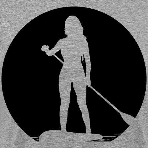Stand Up Paddlerin - Männer Premium T-Shirt