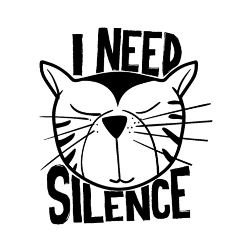 cat i need silence Katze - Männer Premium T-Shirt
