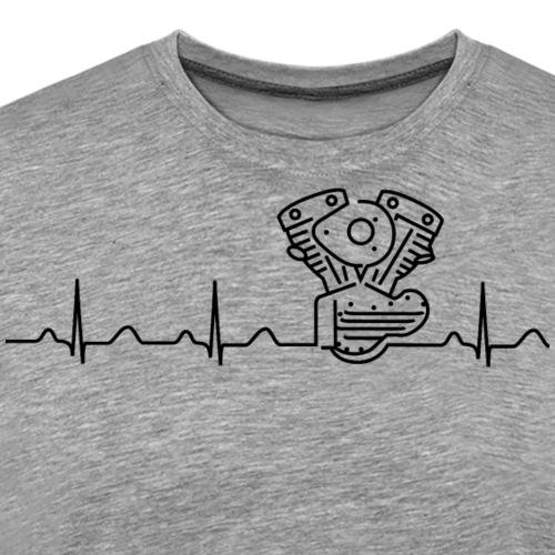 V2 Shovelhead Heartbeat black - Männer Premium T-Shirt