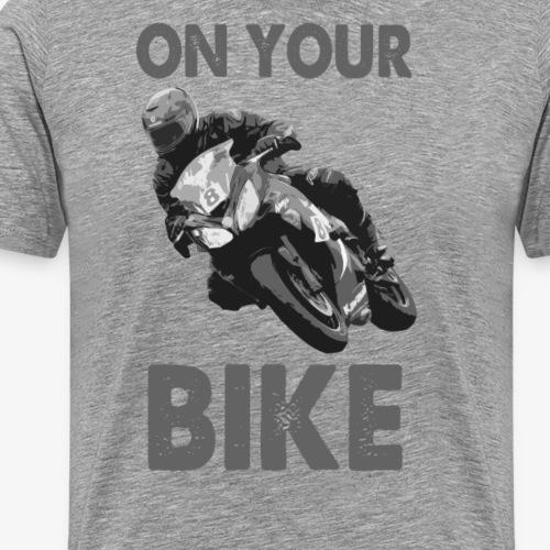 On Your Bike Long Sleeve Baseball T-Shirt - Men's Premium T-Shirt