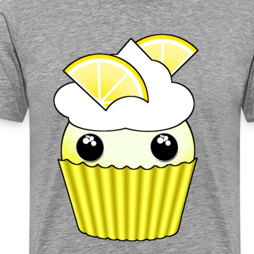 Kawaii lemon cupcake - Premium-T-shirt herr
