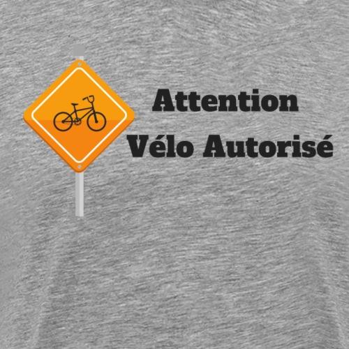 Attention, vélo autorisé - T-shirt Premium Homme