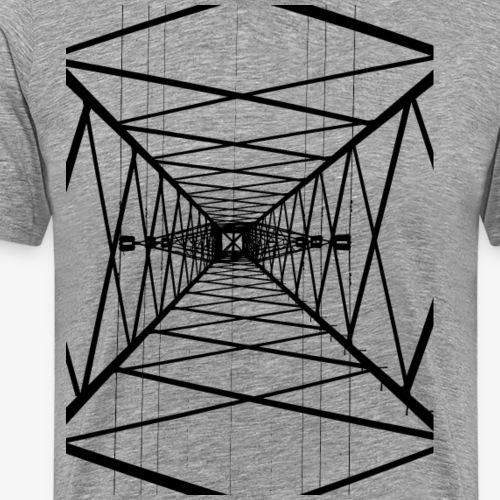 Hochmast V2 Schwarz - Männer Premium T-Shirt