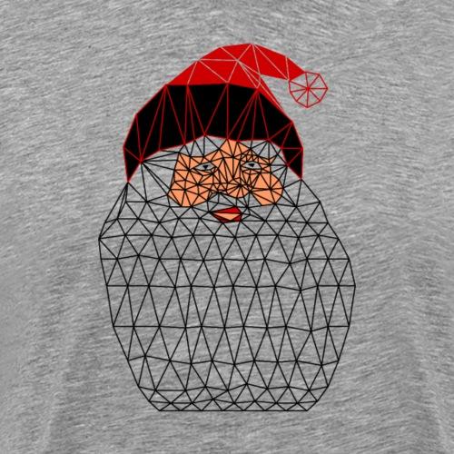 Papa Noël Isométrique - T-shirt Premium Homme