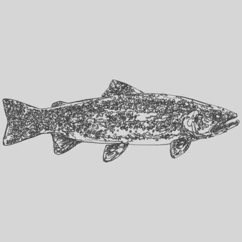art trout.png - Miesten premium t-paita