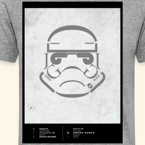Stormtrooper Typo - Männer Premium T-Shirt