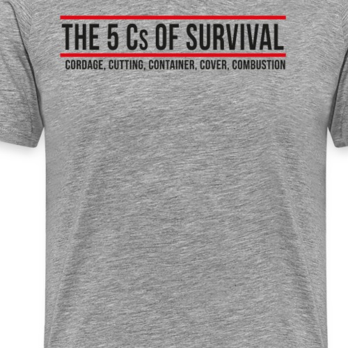 5Cs of Survival Banner - Premium-T-shirt herr