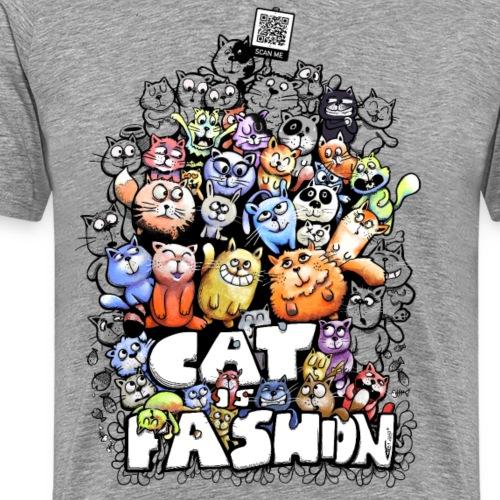 Cat is fashion - Männer Premium T-Shirt