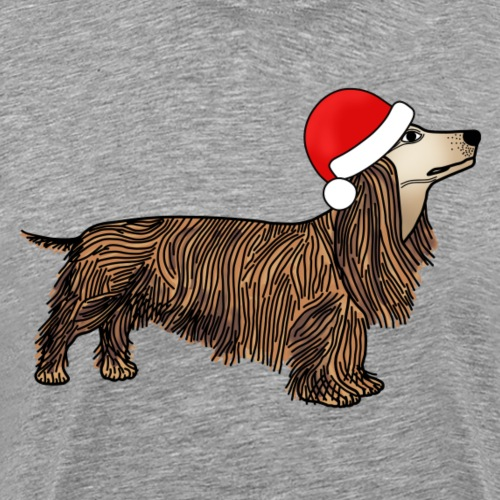 Christmas dachshund - Men's Premium T-Shirt