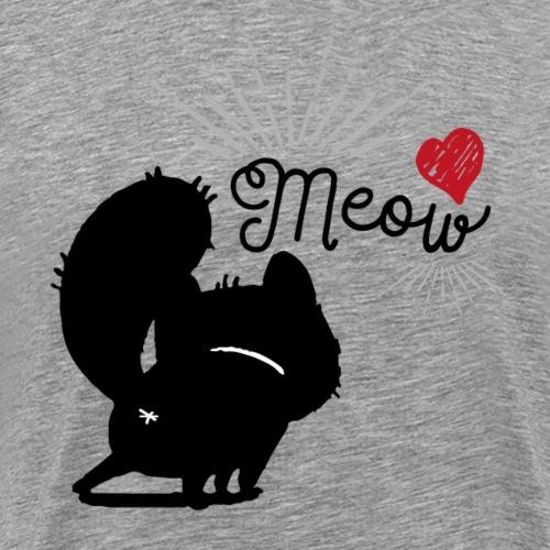 gatto meow - Maglietta Premium da uomo