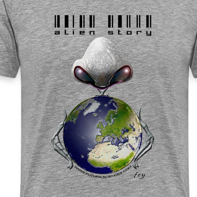 alien texte noir