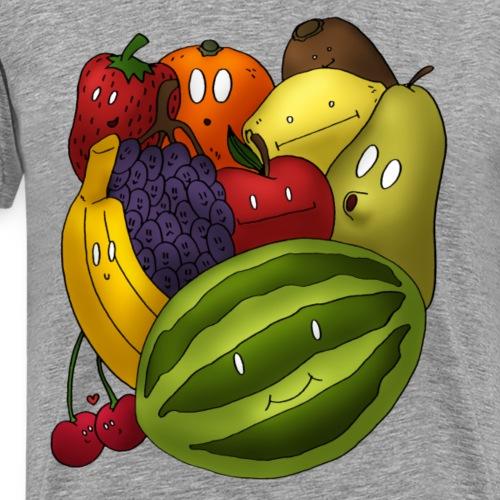 Happy Fruits - Männer Premium T-Shirt