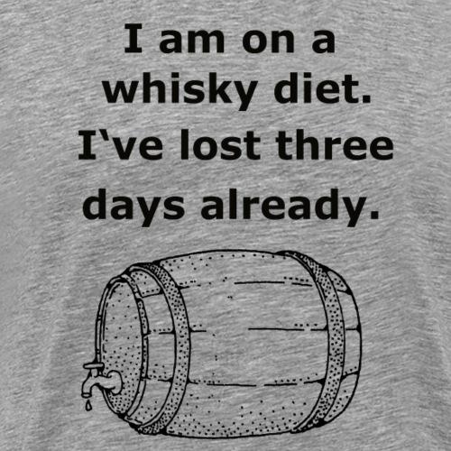Whiskey / whiskey diet saying gift idea - Men's Premium T-Shirt