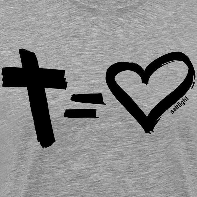 Cross = Heart BLACK // Cross = Love BLACK