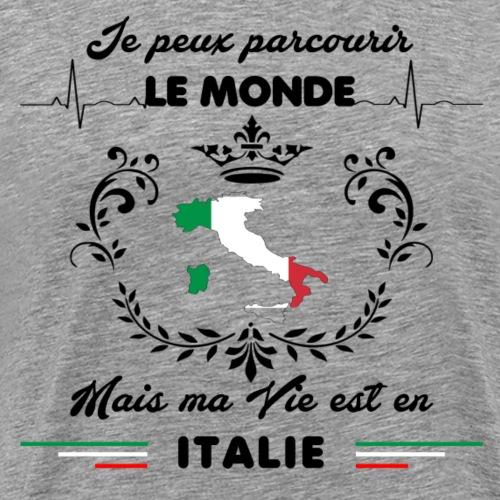 MA VIE EST EN ITALIE - T-shirt Premium Homme