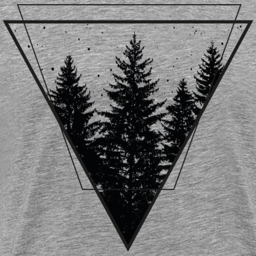 wald dreieck forrest - Männer Premium T-Shirt