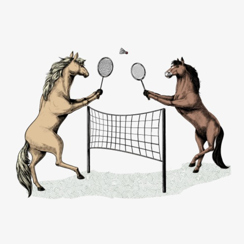 Horse Badminton - Men's Premium T-Shirt