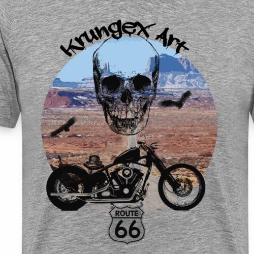 Skull Route - Maglietta Premium da uomo
