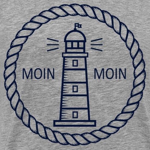 Moin Moin Leuchtturm - Männer Premium T-Shirt