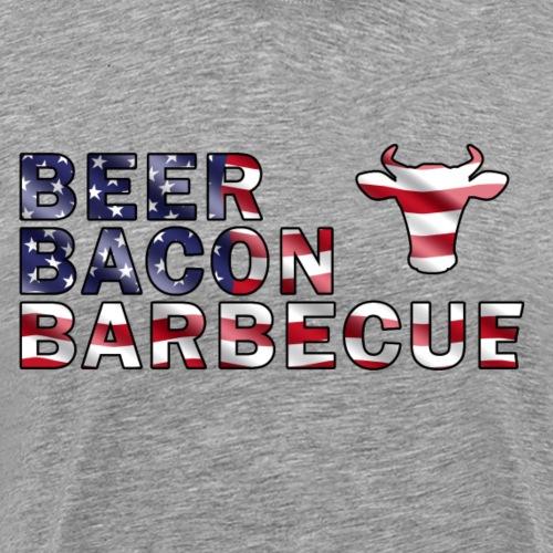 Beer, Bacon und Barbecue (USA) - Männer Premium T-Shirt