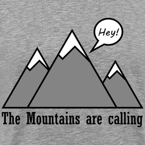 mountains calling - Männer Premium T-Shirt