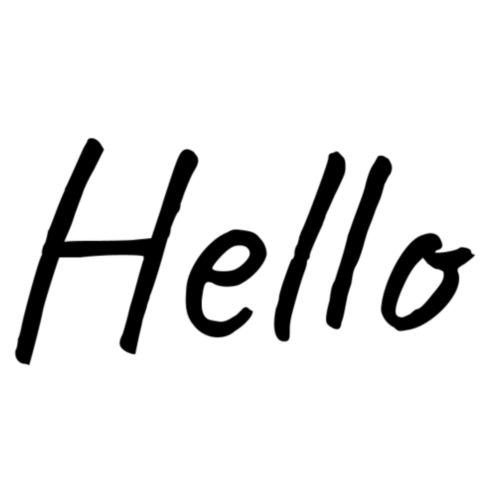 Hello design - Mannen Premium T-shirt