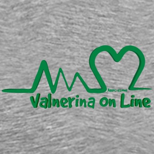 Valnerina On line APS logo verde - Maglietta Premium da uomo
