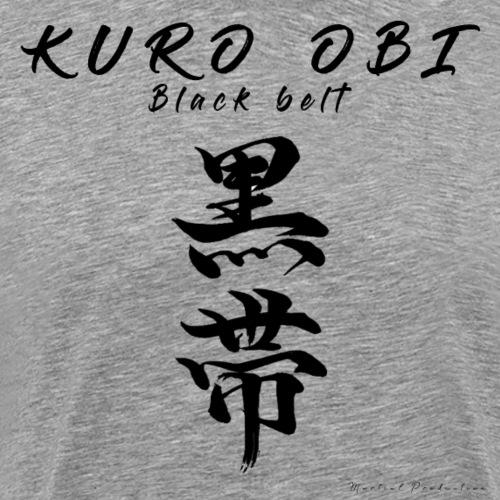 Kuro Obi / Black belt - T-shirt Premium Homme