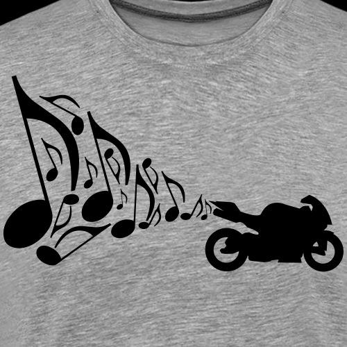 Motorrad Auspuff Musik - Männer Premium T-Shirt