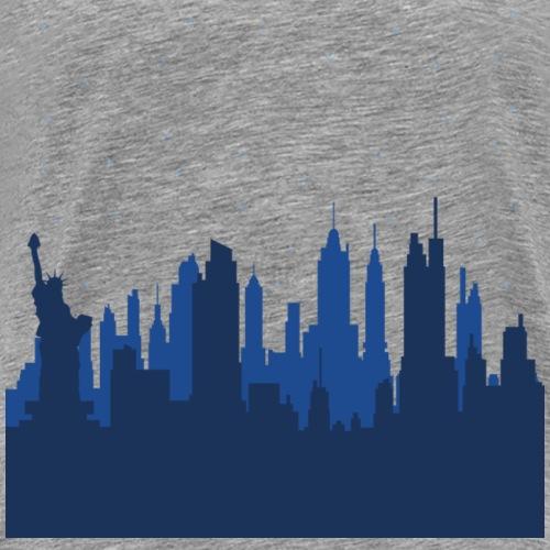 Manhattan Skyline - T-shirt Premium Homme