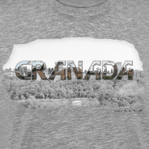 Granada von Lieblingsregion (Skyline) - Männer Premium T-Shirt