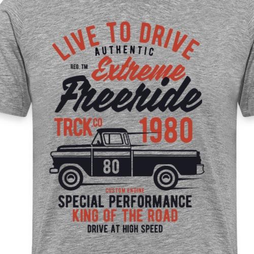 Camioneta Carreras Vivir para Conducir Vintage