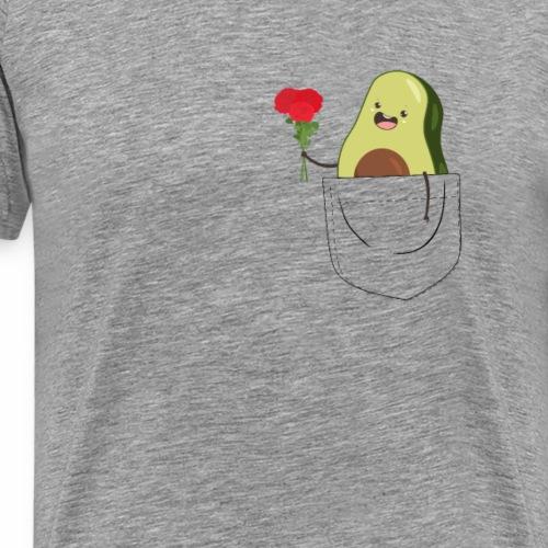 Brusttasche mit süßer Avocado T-Shirt - Männer Premium T-Shirt