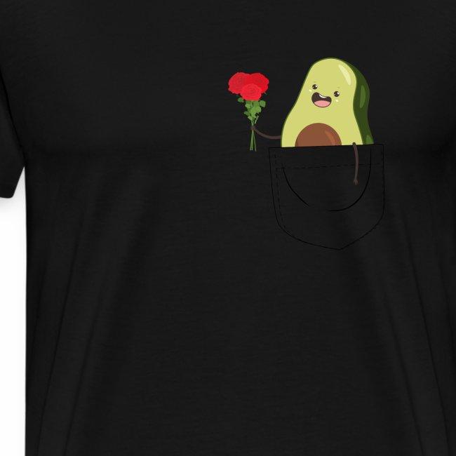 Brusttasche mit süßer Avocado T-Shirt