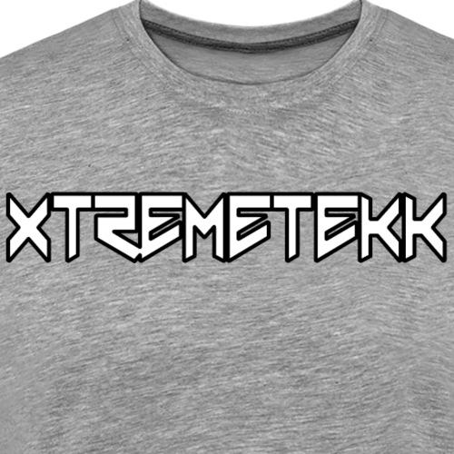 XTREMETEKK Nero White (Black Outline) - Männer Premium T-Shirt