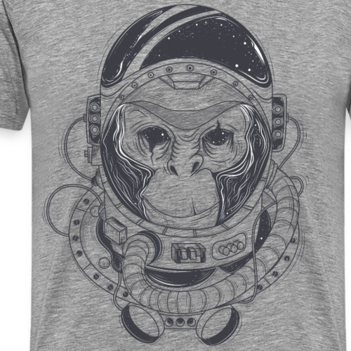 Hand Drawn Monkey Astronaut - Men's Premium T-Shirt