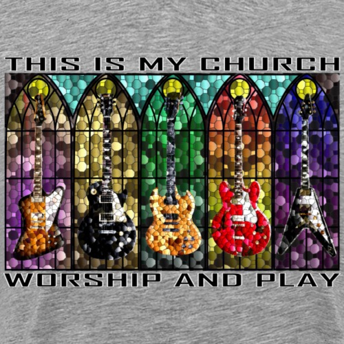 Worship and Play - Men's Premium T-Shirt