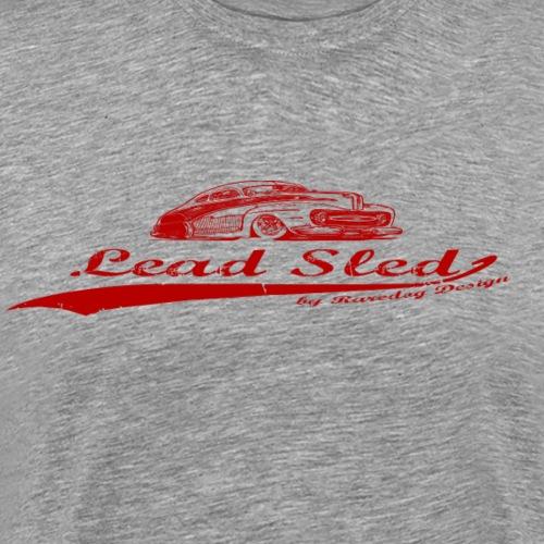lead sled red - Herre premium T-shirt