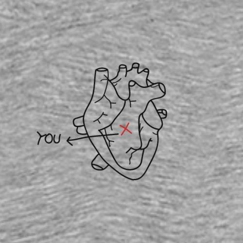 Marked heart - Men's Premium T-Shirt