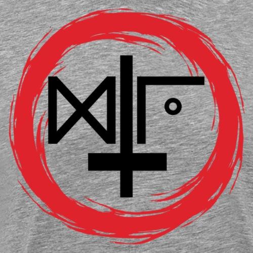 Logo Gu Croix Noir - T-shirt Premium Homme