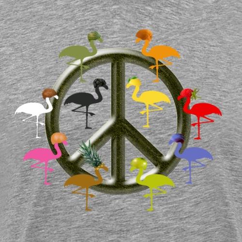 Peace Flamingos