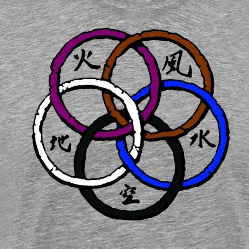 BJJ 5 Rings - Men's Premium T-Shirt